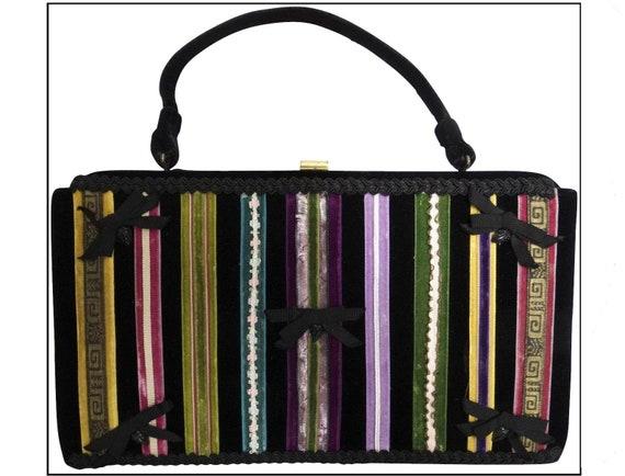 Vintage 1950s Purse//50s Handbag//Soure Bag//New Y