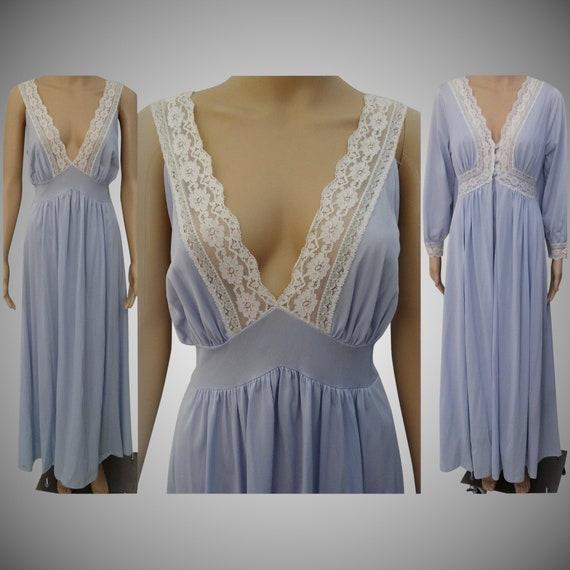 Vintage 1960s Peignoir Set | Burlesque Set | Blue… - image 1