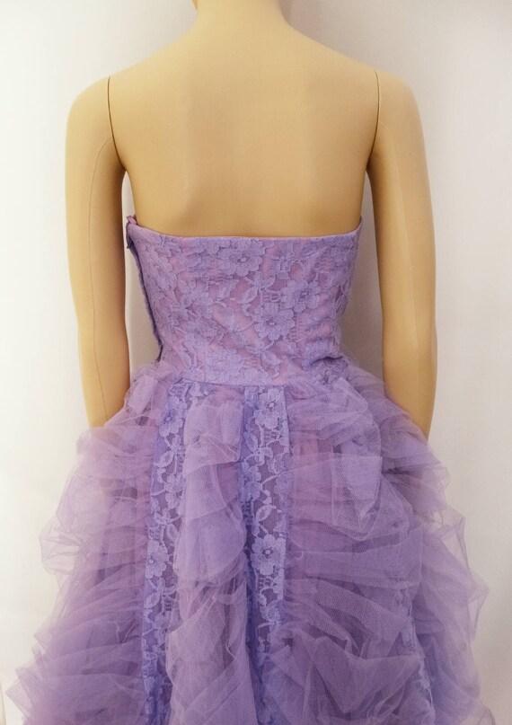 Vintage 1940s Formal Gown | Lavender | Strapless … - image 5