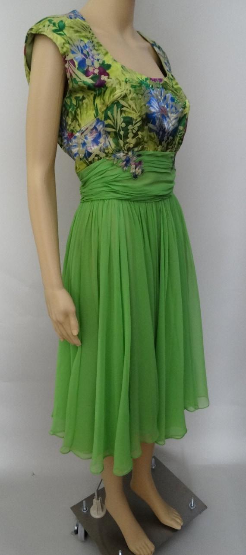 Vintage 1950s Dress   Peggy Hunt   Chiffon   Broc… - image 7
