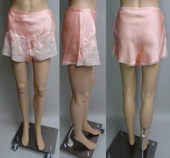 1940s Tap Pants | Rayon Tap Pants | Peach Tap Pant