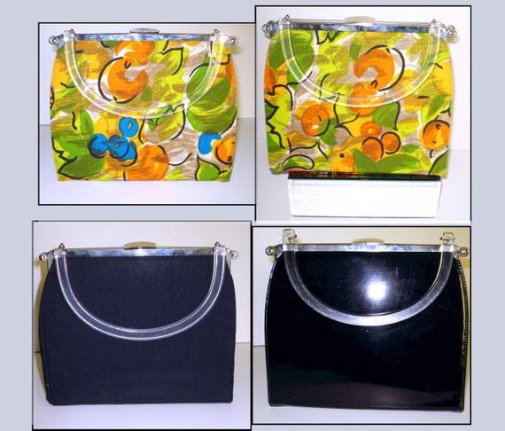 Vintage 1950s purse  .   Reversible Bag   .  1950s
