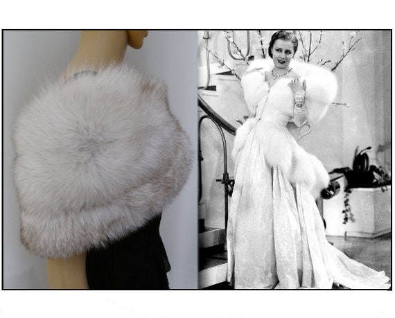 Fox Fur Stole | Genuine Fox fur wrap stole cape sh