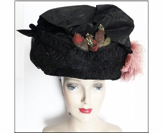1900s Edwardian Hat//Authentic Antique Hat / 1900… - image 2