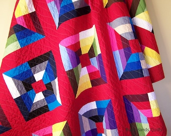 Modern Twin Quilt-Twin Bedding-Quilt Pillow Shams-Quilts for Sale-Gender Neutral-Quilts for Boys-Quilts for Girls-Handmade Blanket