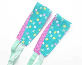 Stars Headband for Women, Teens, or Girls. Reversible Fabric Headband.  Gifts Under 20.