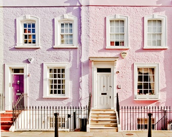 """London art print, London colorful houses, London photography -"""" Made In Chelsea"""""""