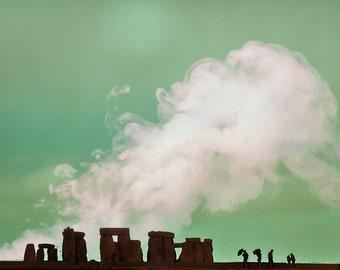 "Stonehendge photography, England art print, large photography, fine art photography - ""Into The Storm"""