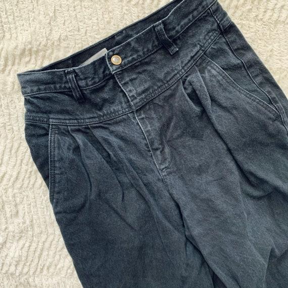 Vintage 90s Pleated Bill Blass Black Mom Jeans