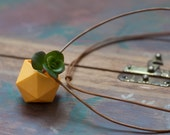 Icosahedron Wearable Planter in Yellow