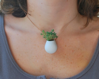 A Wearable Planter, No. 1, in White