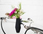 Geometric Handlebar Vase in Black: A Wearable Planter For Your Bike