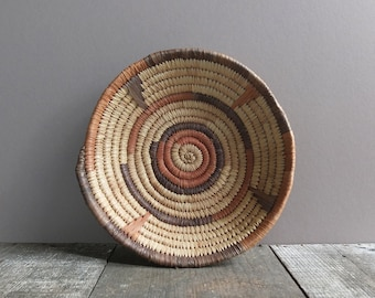 Vintage Southwest Style Woven Coil Basket / Southwest Style Woven Bowl