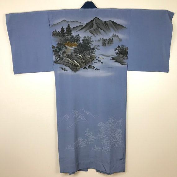 Japanese Robe Nagajuban. Kimono Robe.