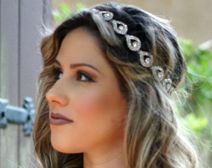 Bridal Headpiece, Weddings, Bridal Headbands, ELSIE, Rhinestone Headband, Wedding Headband, Bridal Hair Piece, Bridal Headpiece, Rhinestone