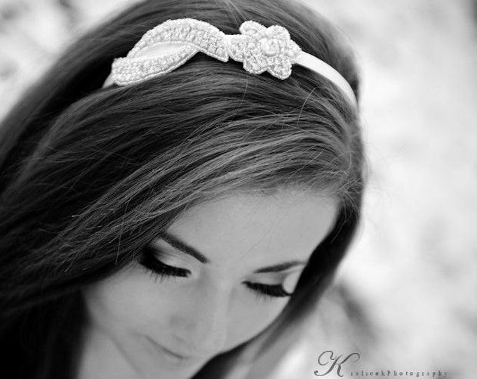 Bridesmaid Headbands, Rhinestone Bridal headpiece, floral rhinestone headband, bridesmaids hair pieces, bridesmaid headpieces, wedding hair