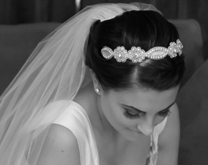 Wedding Hair Accessories, Floral Headband, Bridal Headband, Wedding Headband, rhinestone headband, bridal hair piece, bridal accessory,