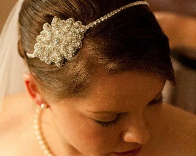 Rhinestone Wedding Headband, Rhinestone Herhinestomeadband, Bridal Headpiece, Wedding Headband, Crystal Headband, Hair Accessory