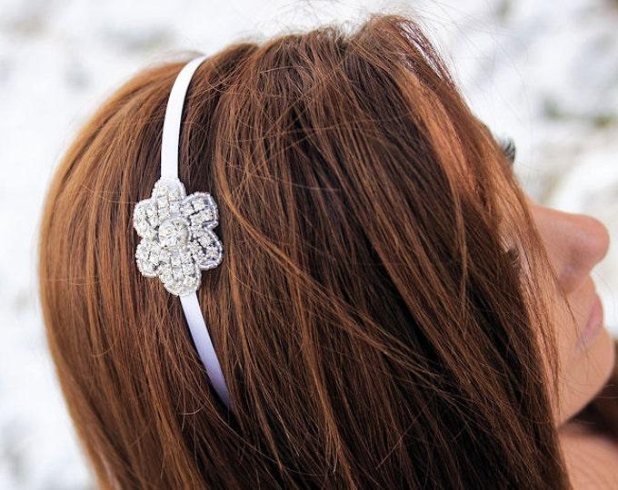 Flower Girl Hair Accessories, Flower Girl Headband, Little Girls Headbands, floral headband, bridal party accessories, bridal headband