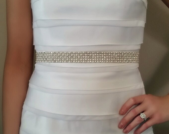 Bridal Sash, Rhinestone Sash, Rhinestones and Pearls, Bridal Belt, Wedding Sash, wedding Belt, ribbon, bridal