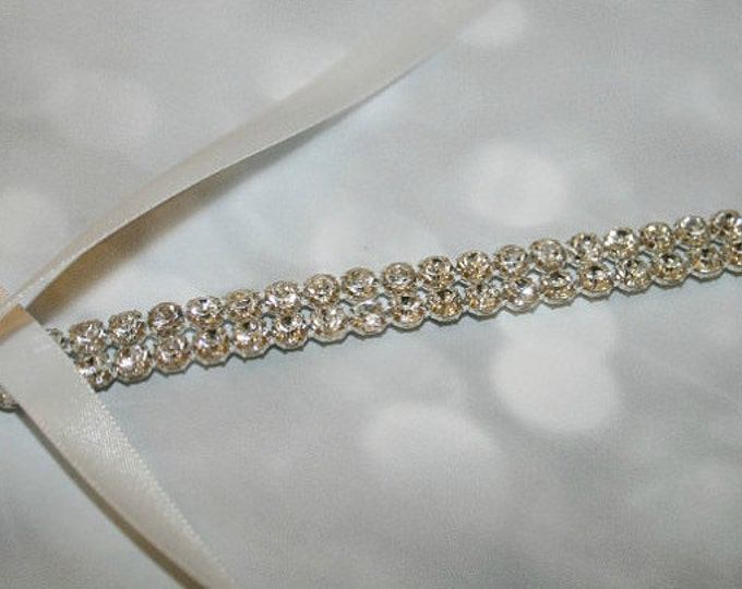 Rhinestone Headband, Two-Row Rhinestone SPARKLE, Wedding headpiece, headband, Bridal, Wedding, Hair Accessory, Bridal Accessories,