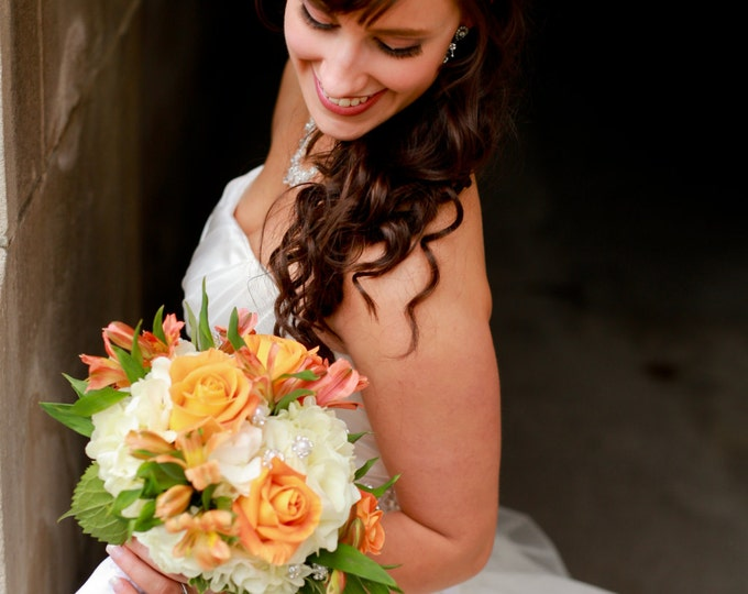 Crystal Wedding Headband – Bridal Headpiece with Rhinestone Flowers