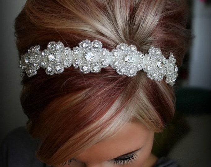 Bridal Headband, Wedding Headpiece, Rhinestone Headband, LILLY, Flower Girl, Bridesmaid, Wedding, Hair Accessory, Bridesmaid