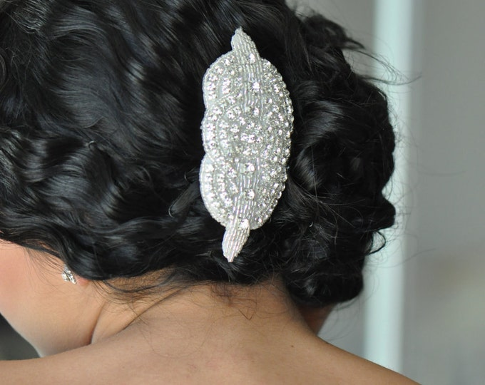 Crystal Bridal Comb with Rhinestones