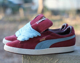 "Beautiful vintage 1990s Puma suede ""The Clyde"" B-Boy B-Girl break sneakers by Puma - Men's 12, fit more like 11.5"