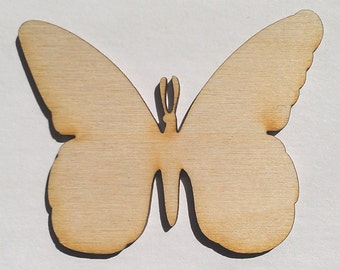 Butterflies - 3 Inch High, Unfinished - for Crafts, Charms, Pendants, DIY Projects SH-241-P