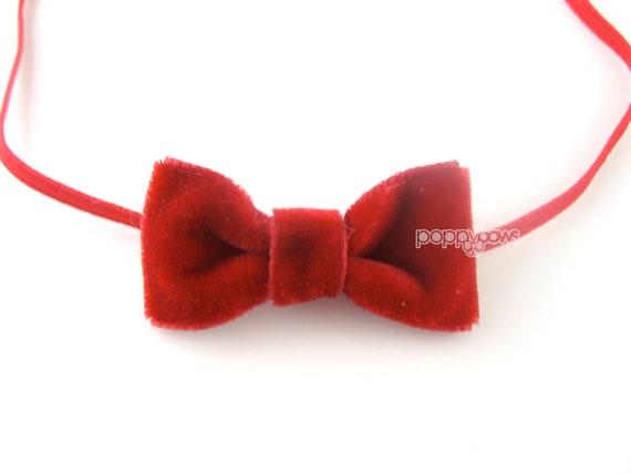 Extra small red velvet baby headband christmas baby headband  918806158c1