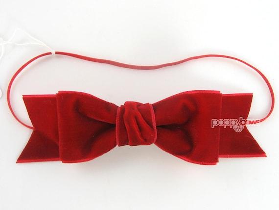 Red velvet baby headband girls headband Christmas baby  1bed3ce9aac