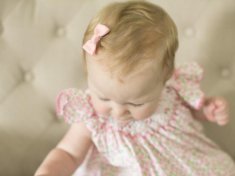 10 Pack Baby Bogen Pinched Frisur Mini Eingeklemmter Neugeborenen Haar Neigt Saugling Haar Neigt Feines Haar Kleines Baby Haarspangen Baby