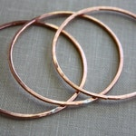 Extra Large Copper Circles, Hammered, Handmade Jewelry Findings