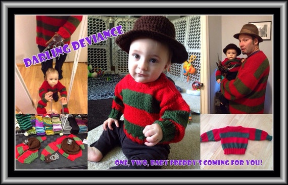 sc 1 st  Etsy & 6-12 Month Baby Freddy Krueger Outfit