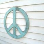 "Big Peace Sign  24""-46"" Peace Symbol Peace Sign Wall Art Extra Large Peace Sign Rustic Peace Sign Wooden Boho Decor Holiday Decor"