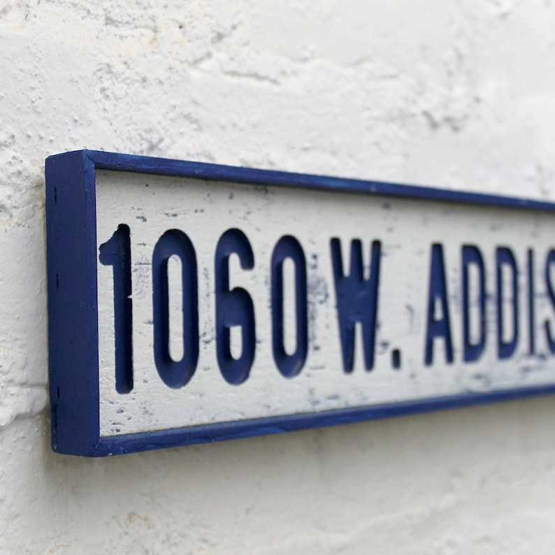 Addison Street Sign Wrigley Field Art Chicago Cubs Art 1060 W Addison  Chicago Baseball Wall Decor Blues Brothers Sign Chicago Cubs Gift
