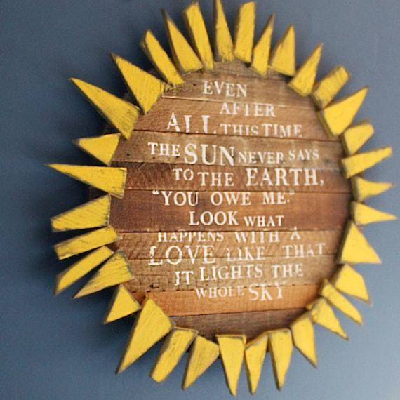 Sonnenblume Zeichen inspirierend Zitat Schlafzimmer Dekor | Etsy