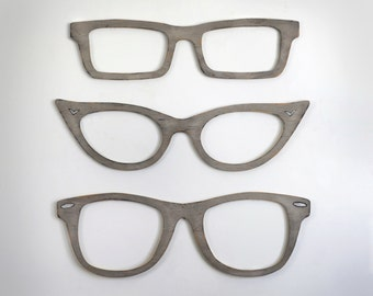 Eyeglasses Wall Art Optometry Wall Art Optometry Cats Eye Glasses, Wayfarer, Square Glasses Optical Shop Art Harry Potter