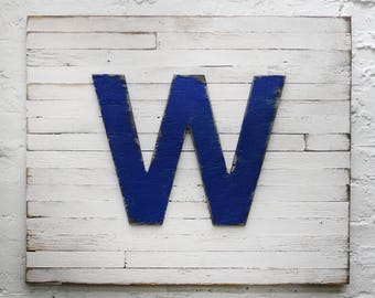 Chicago Cubs Fly the W Flag Win Wall Art Cubs Fan Gift Chicago Baseball Gift Mens Gift