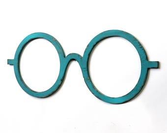 Round Eyeglasses Decor Glasses Optometry Wall Art Optical Shop Art Aviator Sunglass Style Harry Potter Decor Harry Potter Glasses