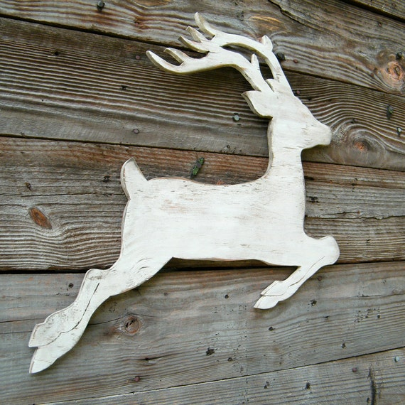 image 0 - White Deer Christmas Decoration