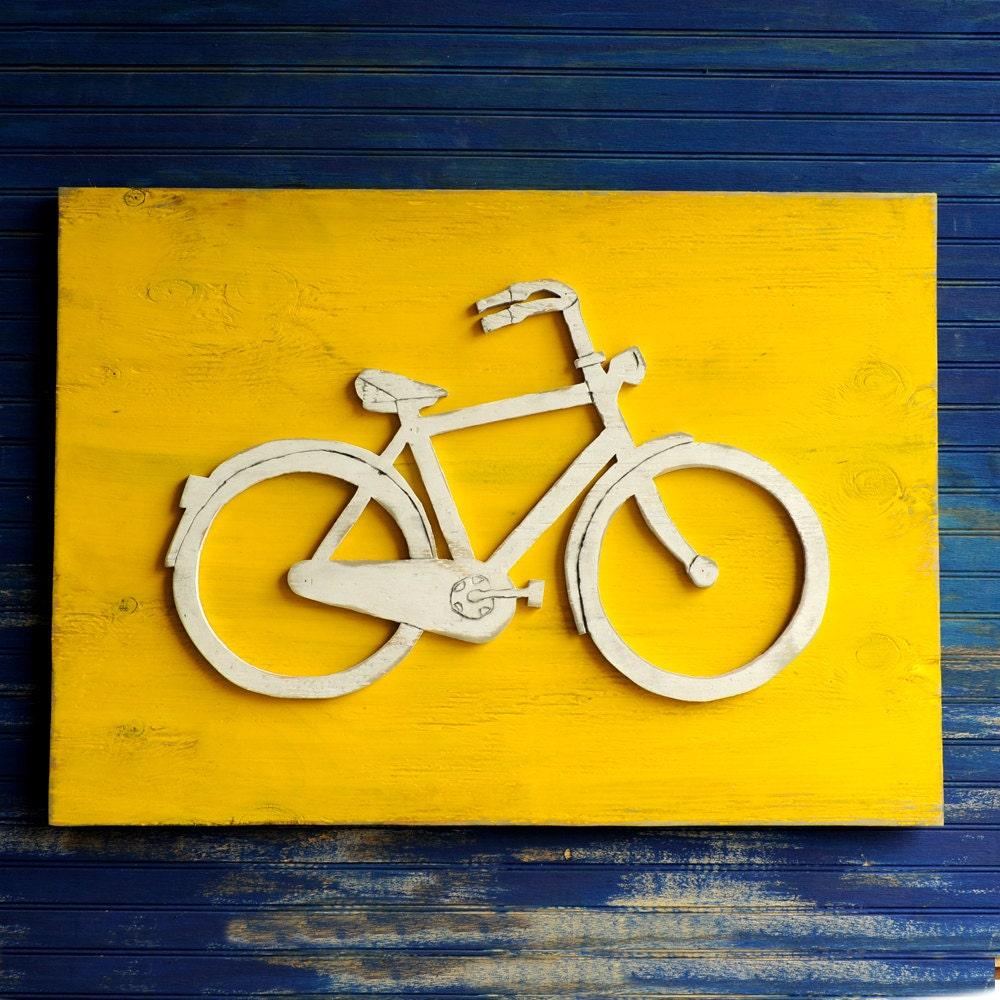Bicycle Art Bicycle Wall Art Bike Wall Decor Bicycle Signs | Etsy