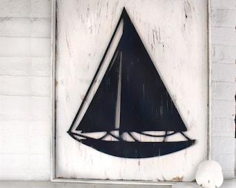 Sailing Wall Art Framed Sailboat Oversized Wall Art Sailing Decor