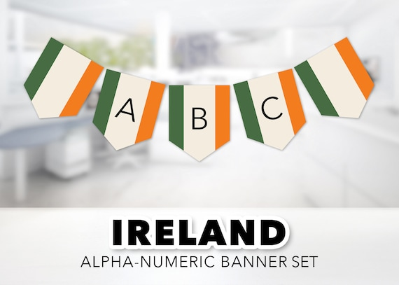 graphic regarding Flag of Ireland Printable called Eire Flag Banner Established -- Irish Flag, Flag of Eire, St Patricks Working day, Gaelic, Orange, Environmentally friendly, Review Overseas, Printable, Fast Down load