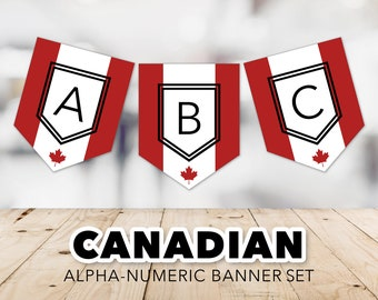 Canadian Banner Set -- Flag of Canada, Maple Leaf, l'Unifolié, Canada Day, July 1st, Red & White, Canada Flag, Printable, Instant Download