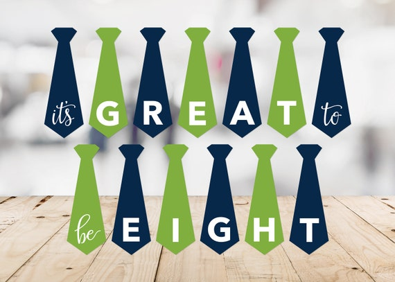 Orange Instant Download Navy Great To Be 8 Printable LDS Baptism Great To Be Eight Baptism Banner Blue Primary Tangerine