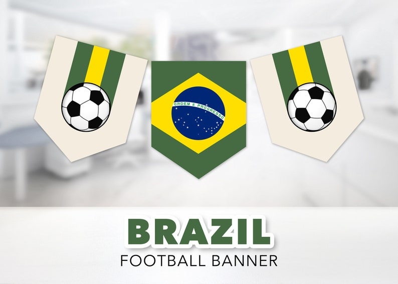 photograph about Brazil Flag Printable named Brazil Soccer Flag Banner Established -- Brasil, Brazilian Flag, Bandeira do Brasil, Soccer, Football, Occasion Banner, Printable, Immediate Down load