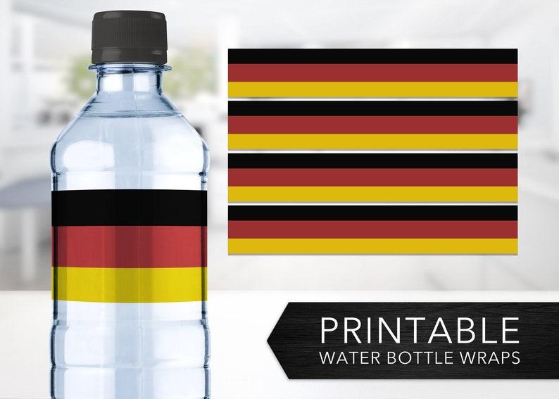 graphic regarding Printable German Flag titled Germany Flag Drinking water Bottle Wraps -- German Flag, Flag of Germany, Deutschland, Schwarz Rot Gold, Bottle Labels, Printable, Instantaneous Down load