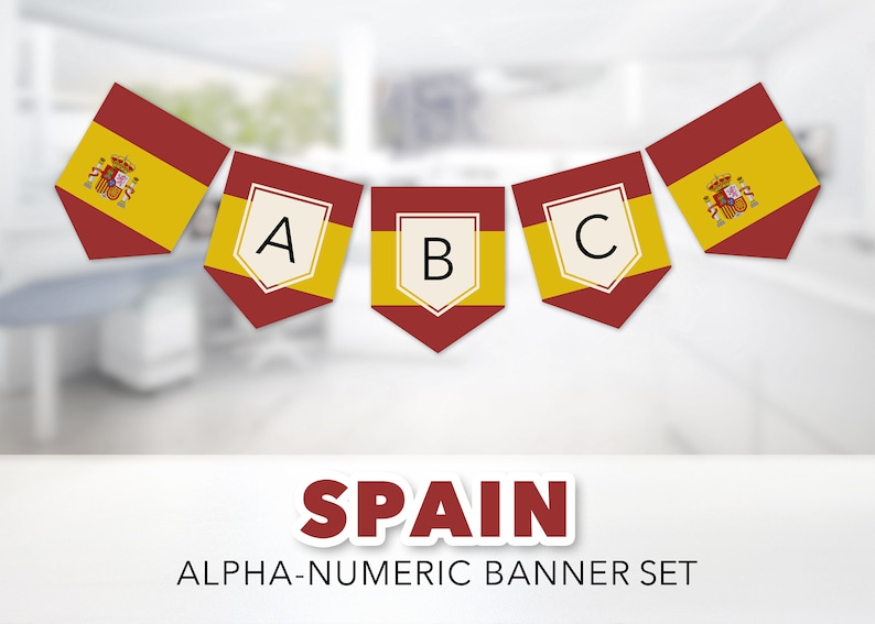 photograph regarding Printable Spanish Flag titled Spanish Flag Banner Preset -- Flag of Spain, Spanish Flag, Madrid, Barcelona, Seville, Spanish Cl, Analyze Overseas, Printable, Immediate Obtain